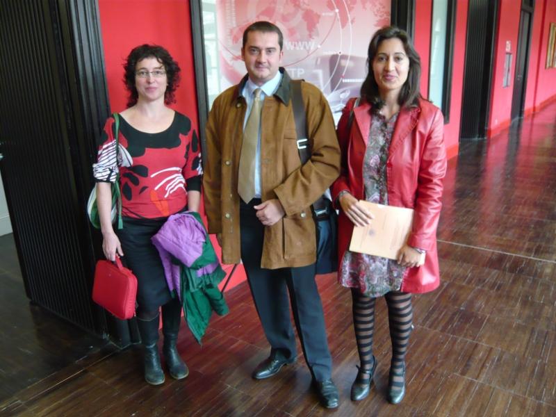Vicerrector de Innovación Tecnológica junto a las ponentes de los Servicios Informáticos de la Universidad de Salamanca